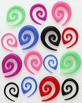 Spiral UV ear tapaer,ear expander body piercing jewelry,talons,tapers,tusks,pinchers,plugs,piercing  Details